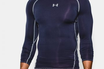 Kompresné tričko UNDER ARMOUR HG ARMOUR LS Dark Blue Tmavo-modrá MD